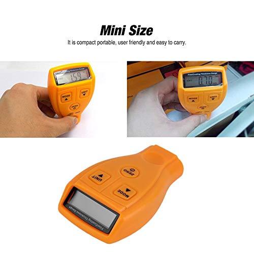 GM200 Min LCD 0-1.80mm 0-71.0 mil Num/érique Automobile Peinture Rev/êtement Jauge D/épaisseur M/ètre Sonde Testeur Outil De Mesure orange