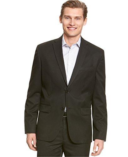 Calvin Klein Men's Core Classic-Fit Two-Button Solid Blazer (Black, Small) by Calvin Klein