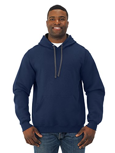 Fruit of the Loom Super Heavyweight Pullover Hood - J NAVY - XX-Large - Fleece Heavyweight Parka