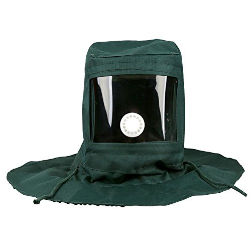 Sand Blasting Protective Hood Full Face Welding Mask Anti-Dust Equipment, 1 Pc Sand Proof Protective Wear Cloak Hood, Industrial Dust Blasting Shawl Cap Air Filter - Green Full Packing Face