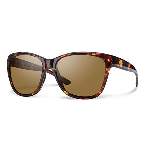 Smith Optics Women's Ramona Sunglasses, Tortoise Frame, Polar Brown Carbonic TLT - Smith Women Sunglasses