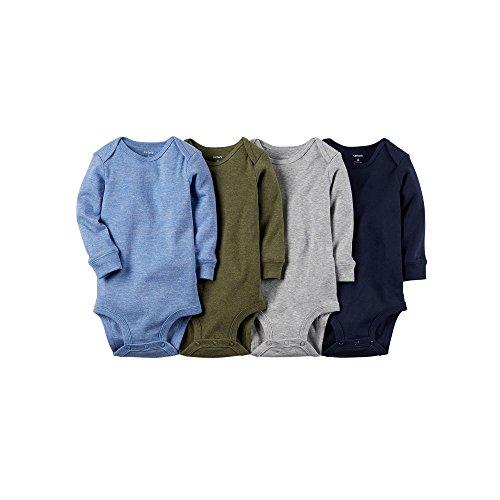 Carter's Baby Boys' 4 Pack Heather Bodysuits (Baby) - Assorted - Newborn