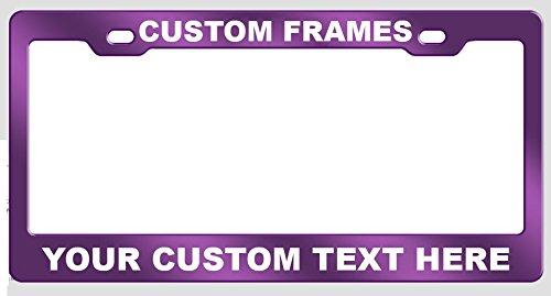 GoPlates Customized License Plate Frame Laser Engraved - Purple