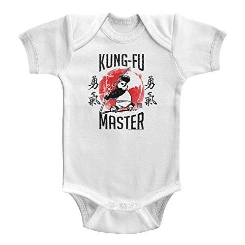 Kung Fu Panda Unisex-Baby Kung-Fu Master Onesie, Size: 6M, Color: White