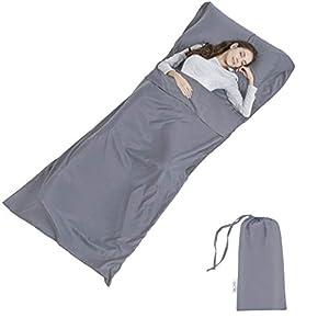 Silk Soft Sleeping Bag Liner – Lightweight Travel Sheet Camping Sleep Bag Prevent Dirty On Business Hotel
