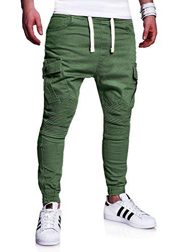 MT Styles Mens Biker Jogging-Jeans Chino Pants RJ-2276 [k...