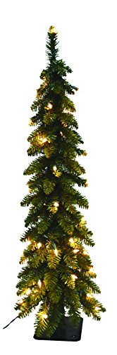Santa's Workshop 15962 Pencil Slim Tree with 105 UL Lights, 5', Multicolored