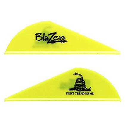 Image of Bohning Don't Tread On Me 2' Blazer Vanes Neon Yellow Don't Tread On Me Blazer Vane, 1000pk Fletches