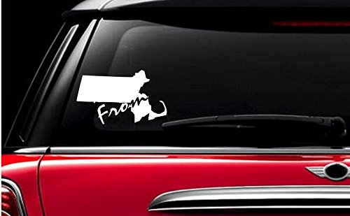 StickerLoaf Brand FROM MASSACHUSETTS home MASS MA state pride decal decals car window sticker ANY COLOR ANY - Cambridge Ma Us
