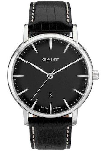 GANT W70431 - Reloj analógico de cuarzo para hombre con correa de piel, color negro: Amazon.es: Relojes