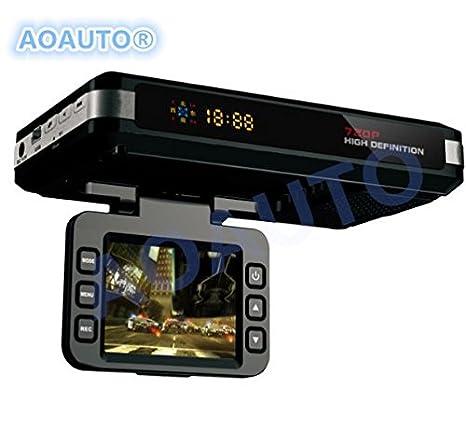 aoauto® 3 en 1 coche DVR Radar Detector de integrado GPS Logger grado grabadora de vídeo: Amazon.es: Electrónica