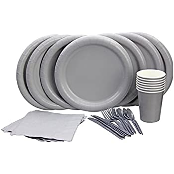Party Lovers Premium Party Supplies Disposable Dinnerware Set - 20pc Includes Silver Dinner Plates Cutlery  sc 1 st  Amazon.com & Amazon.com: Party Lovers Premium Party Supplies Disposable ...