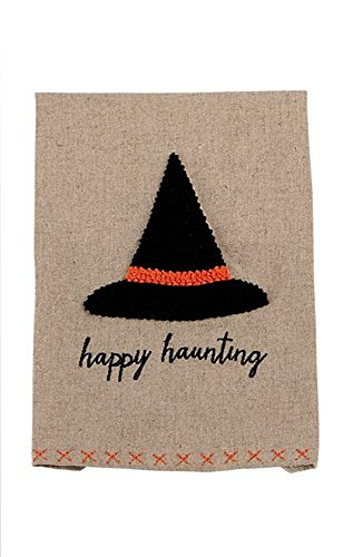 Mud Pie French Knot Halloween Towel (Witch Hat)