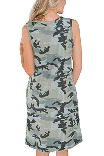 Camo Tank Dress with Pocket