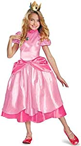 Little Princess Peach Costume Super Mario Brothers Princess ...