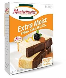 Manischewitz Extra Moist Yellow Cake Mix With Frosting Kosher For Passover 14 oz. Pack of 3.