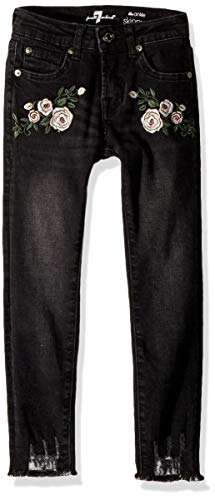 7 For All Mankind Kids Girls' Big Ankle Skinny Stretch Jean, Vintage Noir, 12