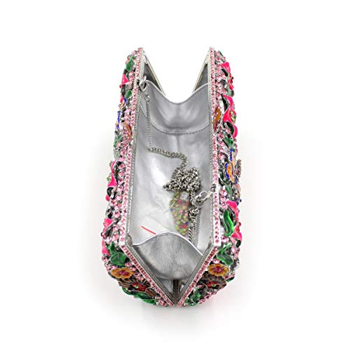 de sac de de métallique dîner luxe Sac papillon B sac fleur de cristal creux de strass embrayage diamant 4OqxwRd