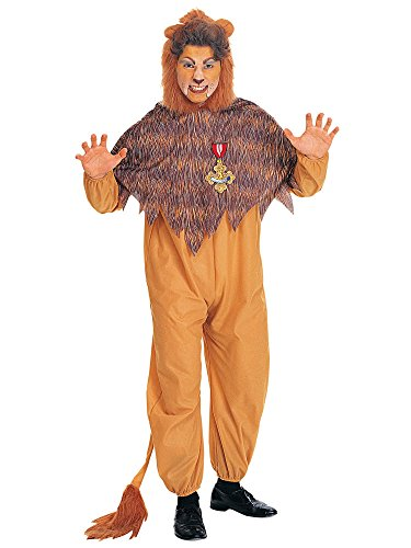 Cowardly Lion Wig (Rubies Costumes Mens The Wizard Of Oz - Cowardly Lion Adult Costume Plus Yellow)