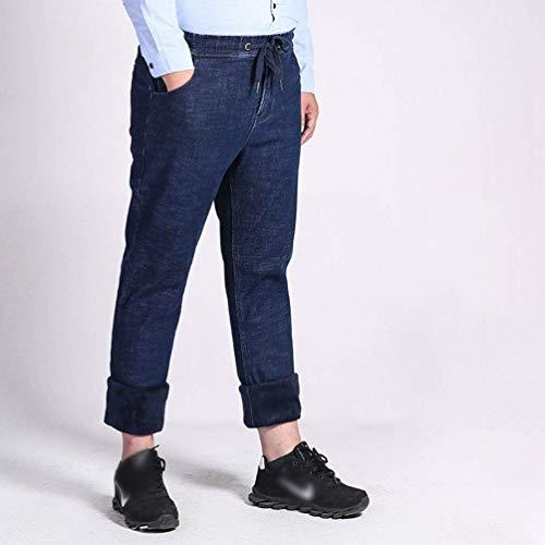 Denim Da Libero Larghi Clubwear Bobo Pantalone Il Rme Tempo Pantaloni E Jeans Termico Spessi Blau In Per 88 Estilo Winter Especial Uomo 7wUEXq