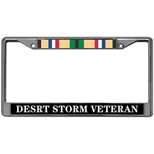 GND 2 Holes License Plate Frame,Desert Storm Veteran License Plate Frame Veteran License Plate Frame Stainless Steel 2 Holes