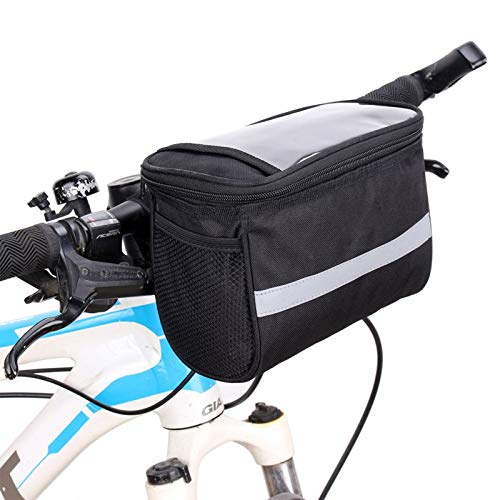SunTrade Bike Handlebar Bag,Bike Pouch with Reflective Stripe for Outdoor Activity