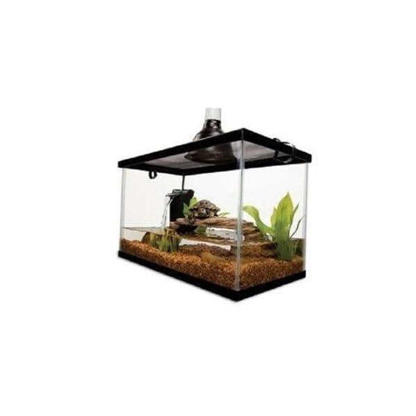 10 Gallon Aquarium Starter Kit Fish Reptile Turtle Habitat Tank Filter Lamp Lid 4