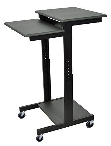 Luxor Steel Frame Computer - Luxor PS3945 Height Adjustable Height Computer/Laptop Presentation Cart