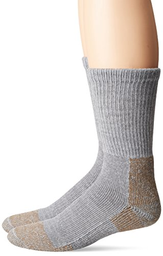 Fox River Heavyweight Steel-Toe Crew Cut Socks (2 Pack), Large, Grey (Sock Mens Boot Heavyweight)