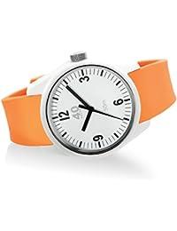 Men's 'BASIC' Quartz Plastic and Silicone Casual Watch, Color:Orange (Model: 40N2.2.3M)
