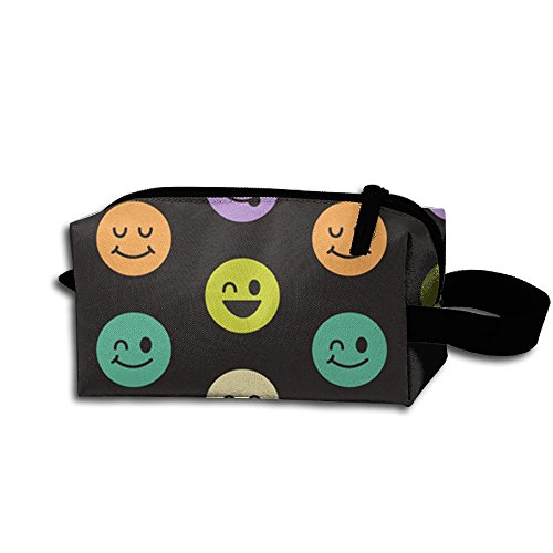 Humor Smiley Face Zipper Handbag Pouch Organizer Bag For Toiletries Cosmetics And Make Up Cool