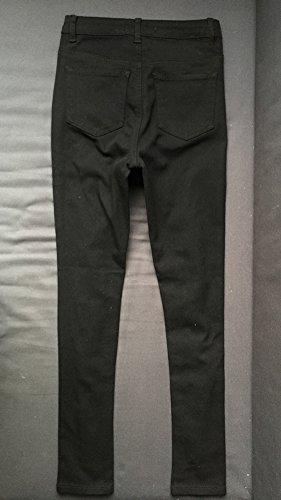 Nero Vita Tasche Pantaloni Jeans Delle Legging Con Skinny Buco Alta Donna Z7a5WwvqxR