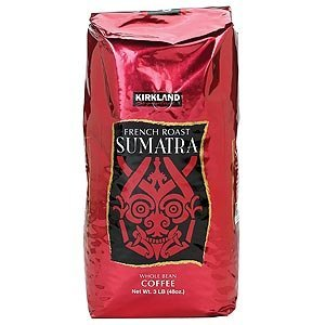 Kirkland Signature Sumatra French Roast Whole Bean Coffee, 48 Ounce