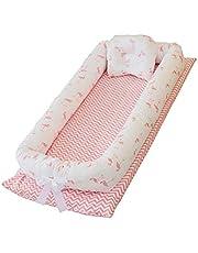 EElabper Baby Nest, baby Lounger Pod ademend katoen Baby Slapen Kussen Bed Afneembare draagbare reizen Crib Pillow