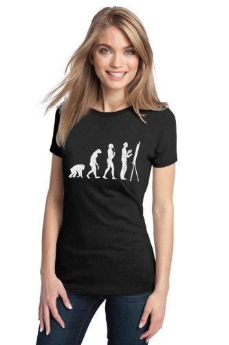 JTshirt.com-20074-EVOLUTION OF THE ARTIST Ladies\' T-shirt / Funny Sketch Artist Humor Tee-B00C6RNS9A-T Shirt Design