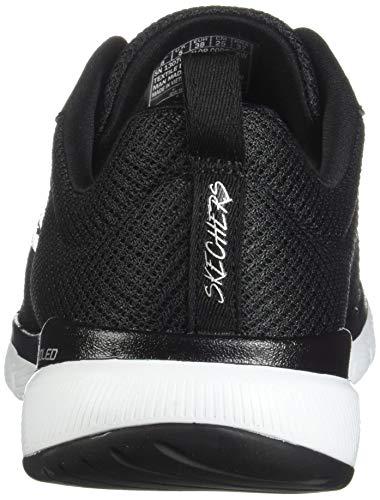 White Skechers 3 Bkw Flex Donna Sneaker black 0 Appeal Nero r8wrPqE