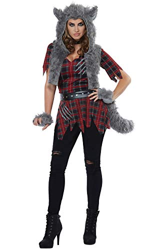 California Costumes Women's She-Wolf - Adult Costume Adult Costume,  -Red/Gray, X-Large