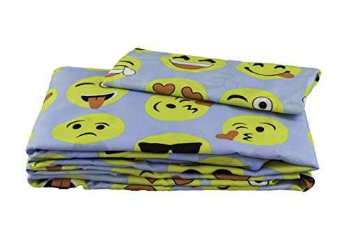 Fun Emoji Sheet Set - 3 Piece Twin Set