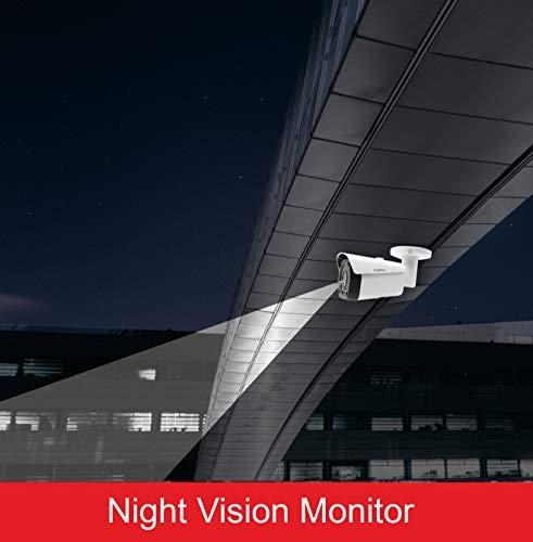 LongPlus 4K 8MP CCTV Security Surveillance H.265 Poe, Sony Sensor, 3864x2218, Ip66 Weatherproof, White (LPIPC8MBM)