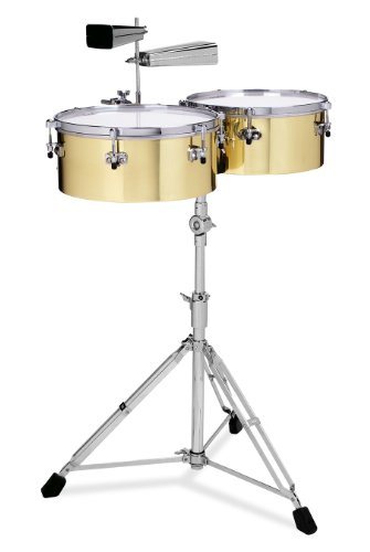 Gon Bops Alex Acuna Series Brass Timbales 14 and 15-inch, by Gon Bops