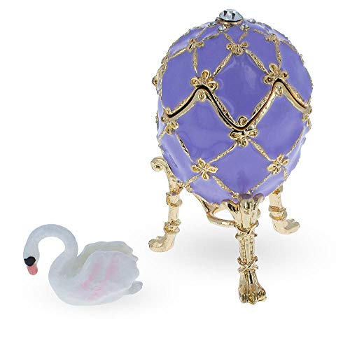 BestPysanky 1906 The Swan Royal Russian Egg