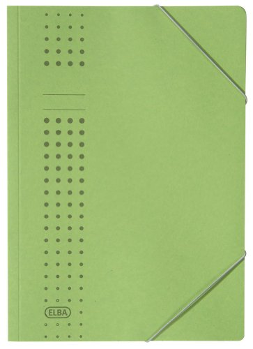 - Elba 33470GN Folder with Elasticated Corners Chic Paper Board for 150 DIN A4 Pages Set of 25 450 g/m² Green