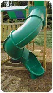 Super Heavy Duty Turbo Tube Slide 7 Foot High Deck -Green (Tube Slides compare prices)