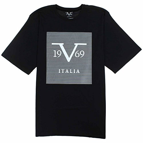 e6b0645217 Versace Mens V 1969 Italia Graphic Tee Shirt (2X-Large, Black)