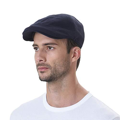 Navy Blue Santa Hats - WITHMOONS Simple Newsboy Hat Flat Cap