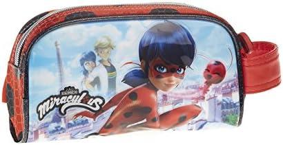 Lady Bug Miraculous- Ladybug Estuche portatodo, Color Rojo, 21 cm (Karactermania 30843): Amazon.es: Juguetes y juegos