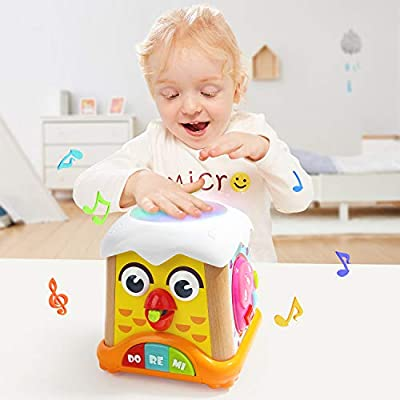 TOP BRIGHT Baby Musical Toys, Electronic Toys for 18 Months with Lights and Sounds, Learning Music Drum Toys for 1 2 Year Old Boys Girls Gifts: Toys & Games