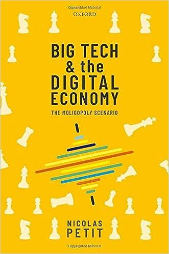 Big Tech and the digital economy : the moligopoly scenario