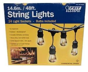 Feit Electric Indoor/Outdoor String Lights, 48ft - Great for Homes, Restaurants and Special Occasions