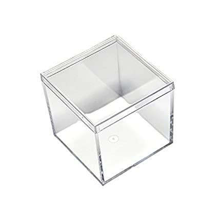 24 Pack Small Clear Acrylic Candy Boxes High Quality Cube Case 2x2x2